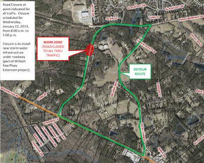 Wednesday's detour. (Source: Columbia Co. EMA)