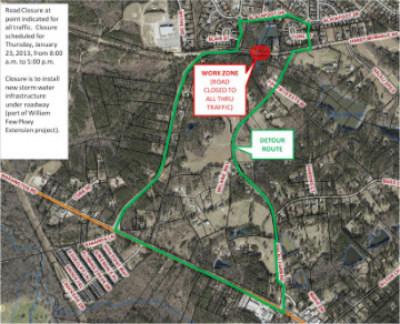 Thursday's detour. (Source: Columbia Co. EMA)