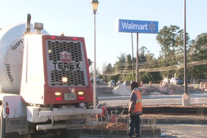 Wrightsboro Walmart under construction