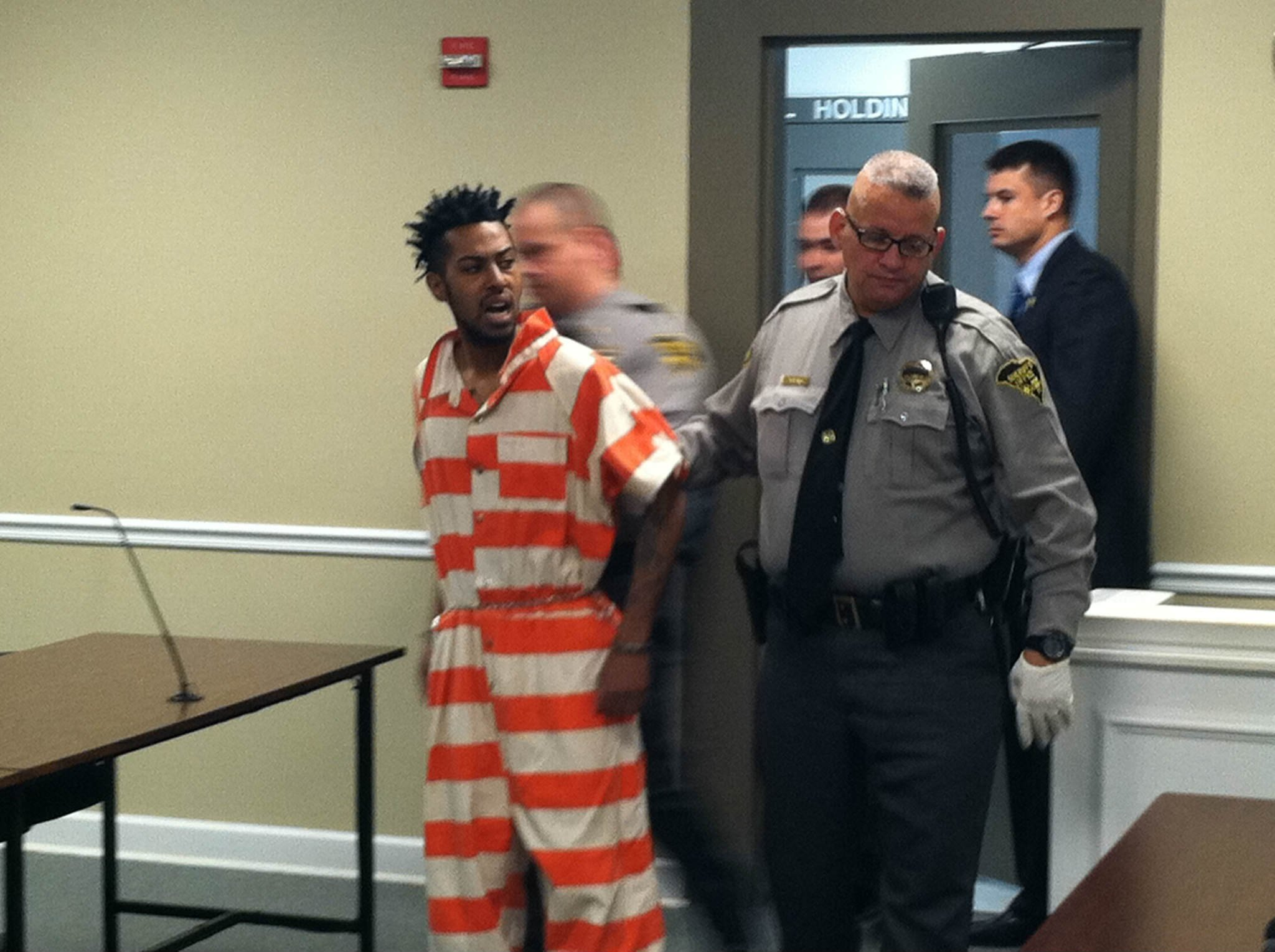 Joshua Jones during his first court appearance. (Source: Mark Barber/Fox 54)