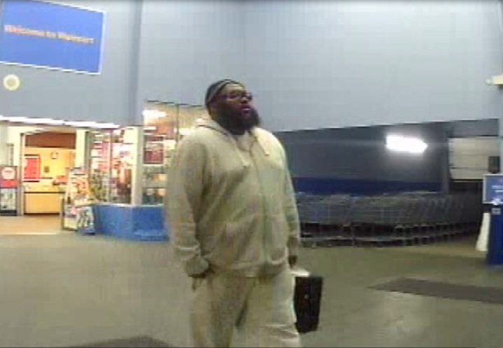 Surveillance photo from Walmart on Knox Avenue (Source: North Augusta Department of Public Safety)