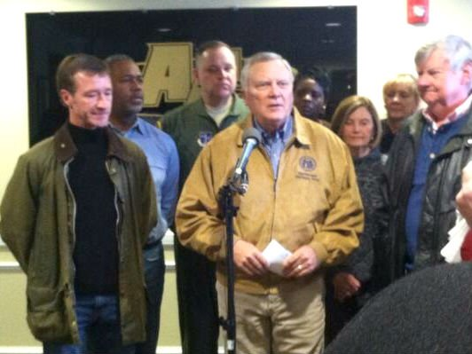 Gov. Nathan Deal speaks at a press conference during the ice storm. (Source: File photo/WFXG)