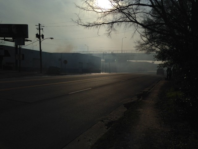 Photo from the scene of the fire, taken by WFXG reporter Brandon Gates.