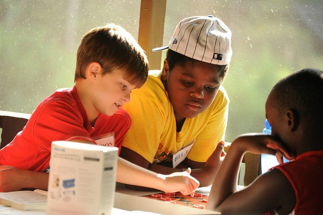 Children play a game at Augusta Area Asthma Day Camp. (Source: Georgia Regents University)