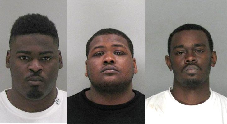 Fredrick Nelson, Carl Nipper and Reginald Forrest (Source: Richmond Co. Sheriff's Office)