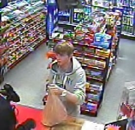 Deputies say this man used a stolen credit card at the BP gas station at the corner of Whiskey Road and Powerhouse Road in Aiken. (Source: Aiken Co. Sheriff's Office)