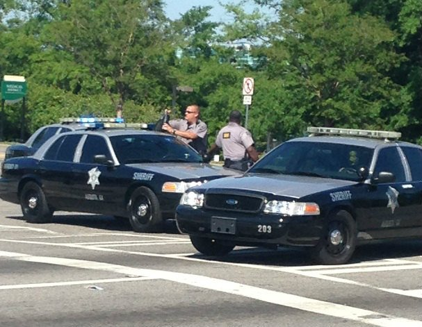 Paine College was on lockdown for several hours Monday as deputies and police worked to find the suspect. (Source: Katy Solt/WFXG)