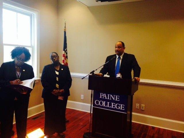 Paine College President Dr. George C. Bradley speaks about the college being placed on probation. (Source: WFXG)