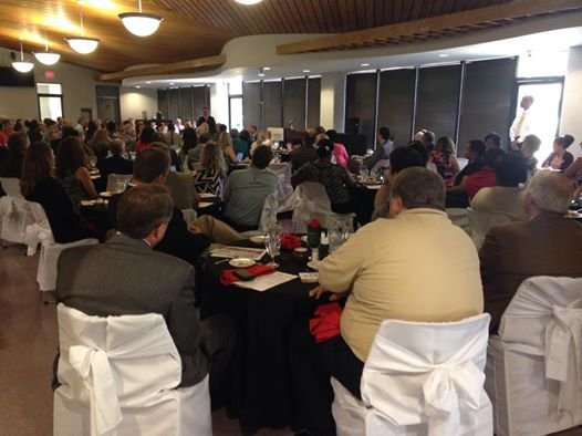 More than 130 Georgia Chamber members and investors attended a power lunch at Augusta Technical College Tuesday. (Source: WFXG)