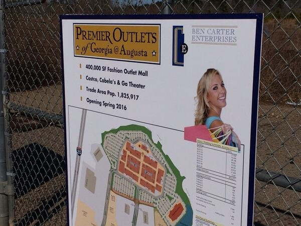 The groundbreaking for Outlet Mall of Georgia at Augusta is scheduled for December. (Source: WFXG)