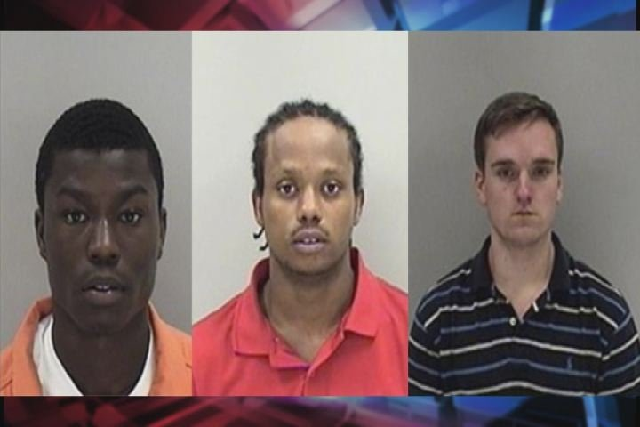 Joshua Alexander Lee, Gregory Bernard Washington Jr. and Frank Allen Wilkins are each charged with burglary. (Source: Richmond Co. Sheriff's Office)