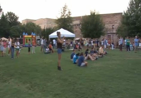 Residents gather in downtown Augusta for a First Friday event. (Source: File photo/WFXG)