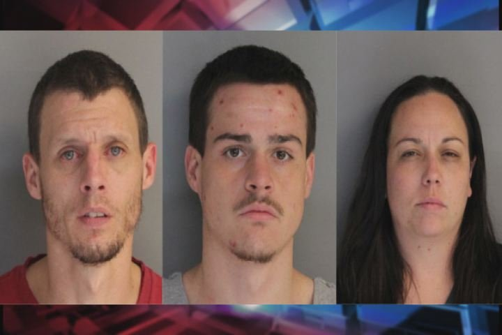 Alex Prior, 37, Nolan Mumford, 22, and Rachel Tobak, 32, are wanted for armed robbery. (Source: Aiken Dept. of Public Safety)