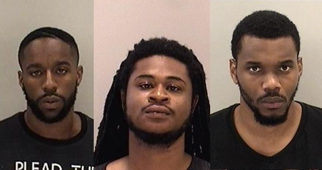 Jahmad Olajuwan Saleem, Cyril Maurice Vickers and Santoine Calvin Butler. (Source: Richmond Co. Sheriff's Office)