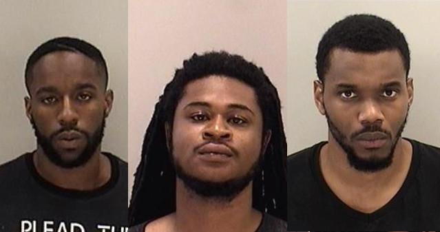 Jahmad Olajuwan Saleem, Cyril Maurice Vickers and Santoine Calvin Butler. (Source: Richmond Co. Sheriff's Office)