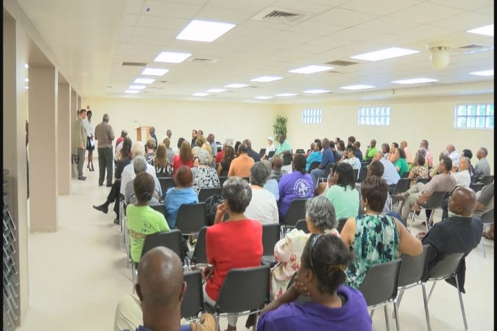 Residents gather at the Henry Brigham Community Center for a public hearing about a 1.75 mill tax increase in Richmond County. (Source: WFXG)