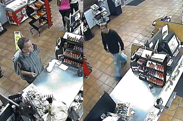 Deputies said the man on the left was the driver and the man on the right demanded money from the clerk. (Source: Aiken Co. Sheriff's Office)