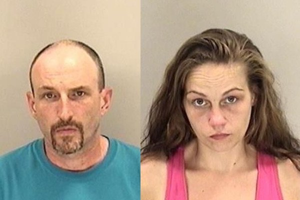 Karl Robert Powick and Lauren Elise Staples are facing charges after deputies found meth, marijuana and guns inside a house on Hephzibah-McBean Road. (Source: Richmond Co. Sheriff's Office)