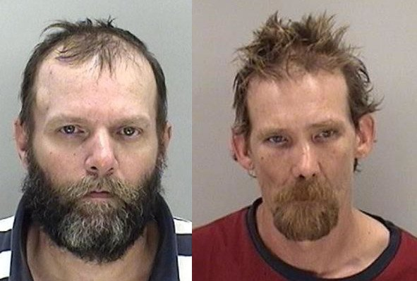 Jay Harland Briele and Charles Lee Pennington Jr. were arrested after deputies found a meth lab on Willis Foreman Road. (Source: Richmond Co. Sheriff's Office)
