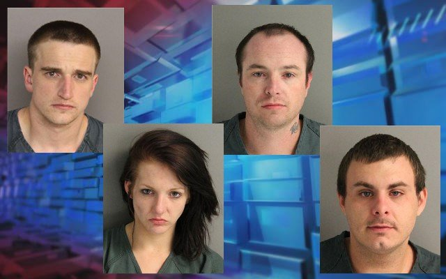 David Isbell, Harline Gaines, William Beasley and Timothy Baughman Jr. (Source: Aiken Co. Sheriff's Office)