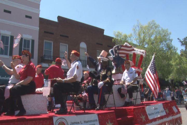 Aiken Memorial Day parade (source: WFXG)