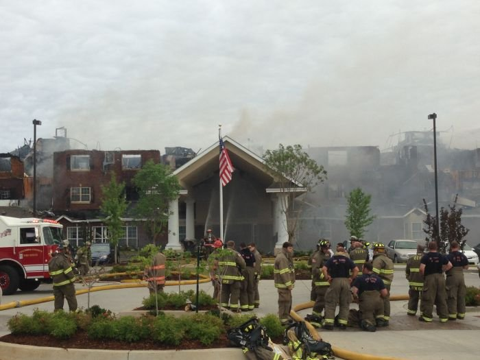 A massive fire destroyed Marshall Square Retirement Community in Evans. (Source: Waylon Cawley / WFXG)