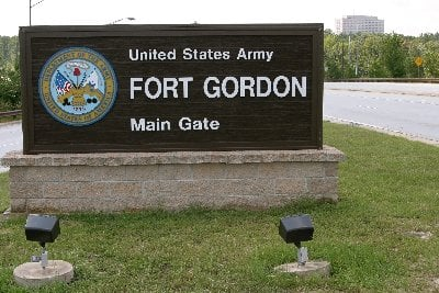 Fort Gordon live fire training; Source: WXFG