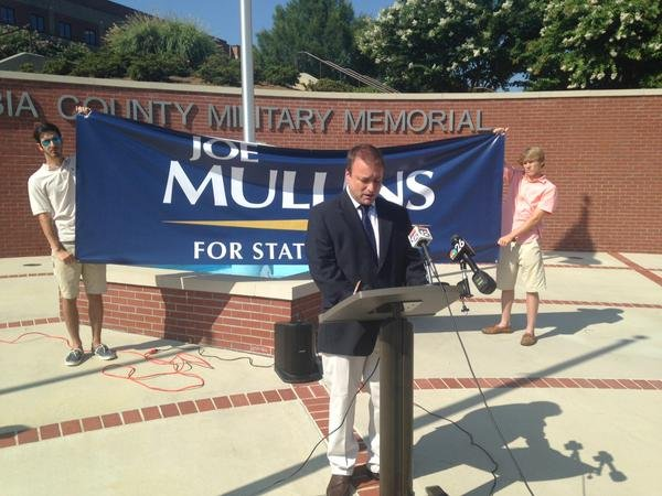 Businessman Joe Mullins announces he's running for Georgia House of Representatives District 122. (Source: Katy Solt / WFXG)