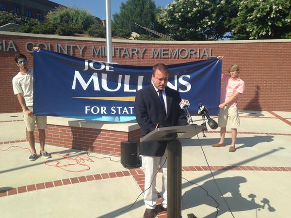 Businessman Joe Mullins announces he's running for Georgia House of Representatives District 122. (Source: Katy Solt / WFXG)