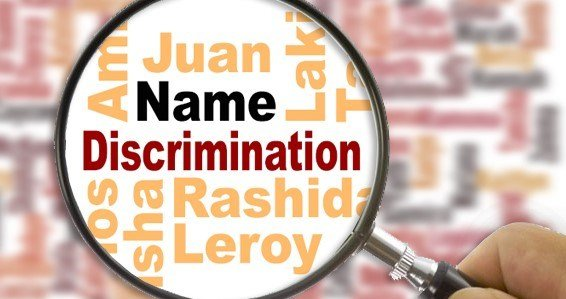 Resume discrimination names