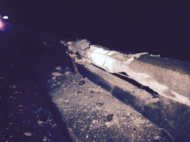 Damage to I-20 bridge (Source: G-DOT)