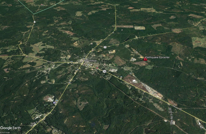 Earthquake outside McCormick 9/13/18 (source: Google Earth)