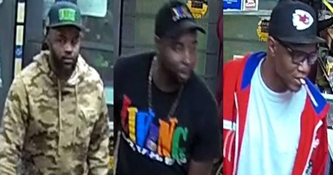 Three wanted for theft at RaceWay Gas