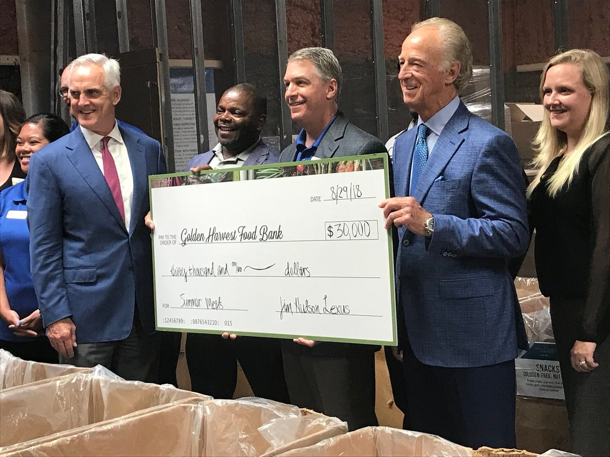 Jim Hudson Lexus Of Augusta Donates $30,000 To Golden Harvest Food Bank