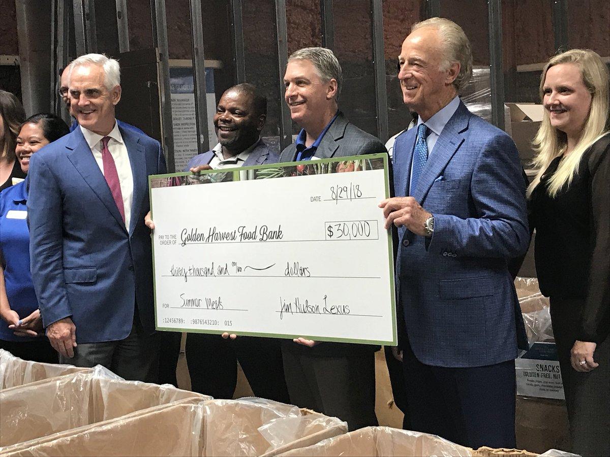 jim hudson lexus of augusta donates $30,000 to golden harvest fo