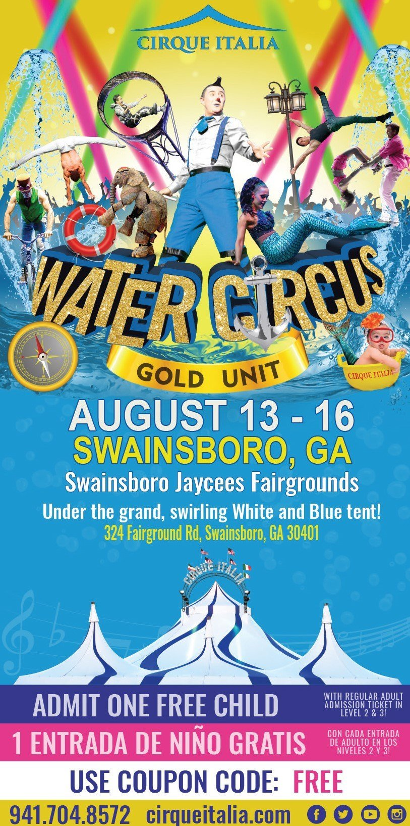 Cirque Italia Set To Make Waves In Swainsboro With Water Product Wfxg